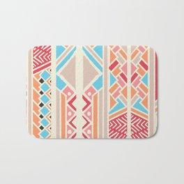 Tribal ethnic geometric pattern 033 Bath Mat