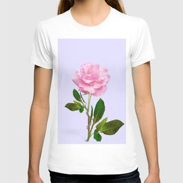SINGLE PINK ROSE FOR LOVE T-shirt