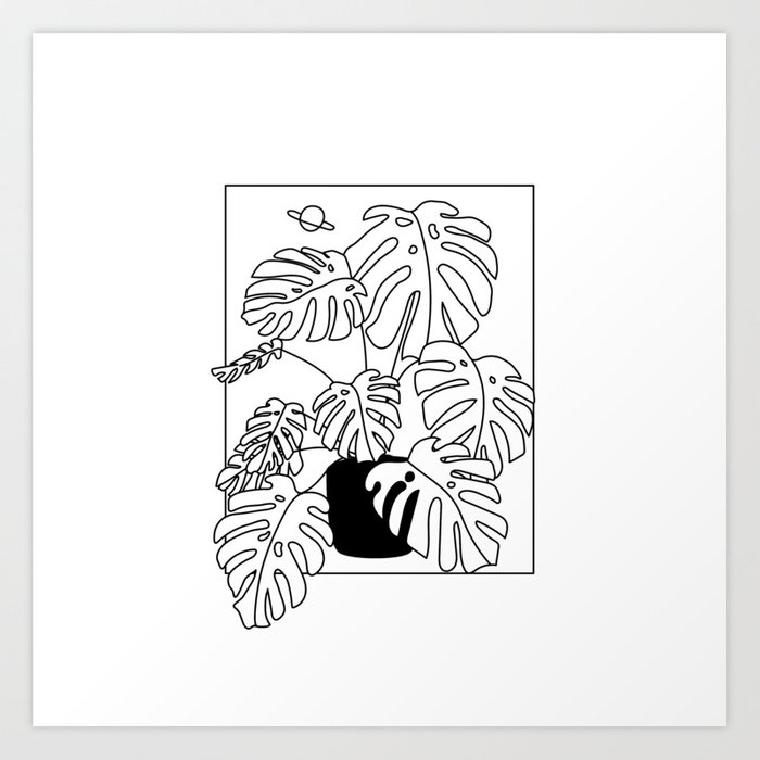 Magic Monstera Art Print