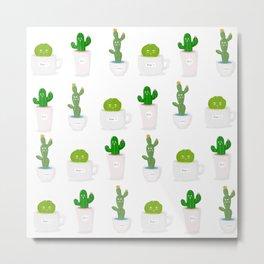 Cactus Friends Metal Print