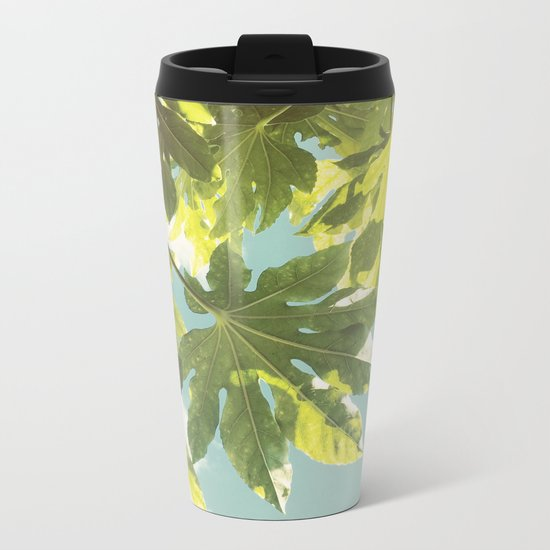 Fig Leaves Metal Travel Mug