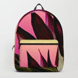 Bold Sunset Agave Fringe Illustration Backpack