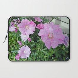 Pink Musk Mallow Bush in Bloom Laptop Sleeve