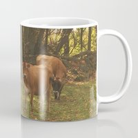 cows Mugs featuring Cows by Ashley Callan