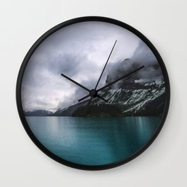 Landscape Photography Maligne Lake Mountain View | Turquoise Water | Alberta Canada Wall Clock