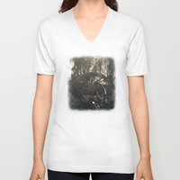 30 rock V-neck T-shirts featuring Intervention 30 by Viviana Gonzalez