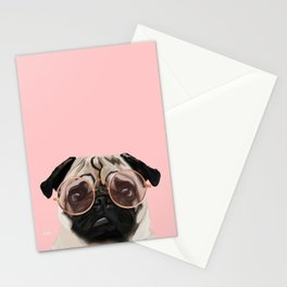 Intellectual Pug Stationery Cards
