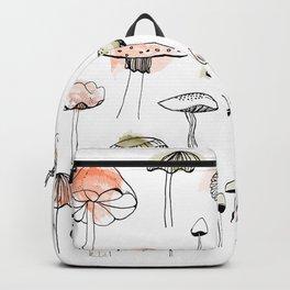 Mushroom harvest - pink and green Backpack