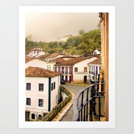 Historical city II Art Print