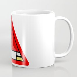 Mondrian Road Sign Coffee Mug