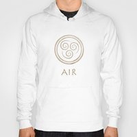 airbender Hoodies featuring Avatar Last Airbender - Air by bdubzgear