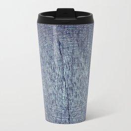 Violet and Purple Wood Texture Travel Mug