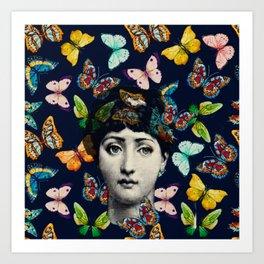 The Butterfly Queen Art Print