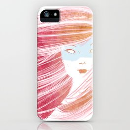 Girl with Pink Hair iPhone Case