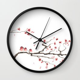 Cherry Blossoms #3 Wall Clock