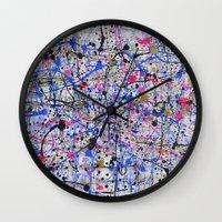 trip Wall Clocks featuring TRIP by Art Book Of  Amanda