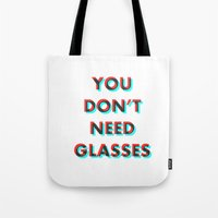 3d Tote Bags featuring 3D by ragno design