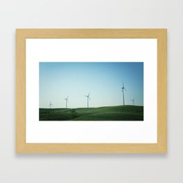 Kansas Windmills Framed Art Print