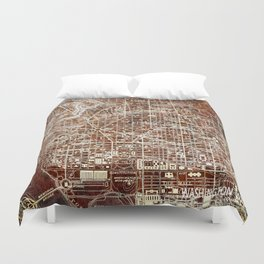 Washington West Columbia old map year 1945,colorful artwork Duvet Cover