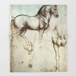 "Leonardo da Vinci ""Gran Cavallo"" Throw Blanket"