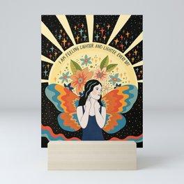 Feeling lighter and lighter Mini Art Print