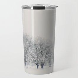 a snow day in Cambridge Travel Mug