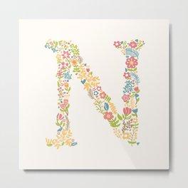 Alphabet N Metal Print