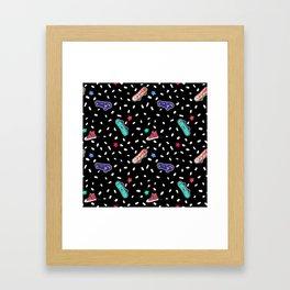 Skateboard Stars Framed Art Print