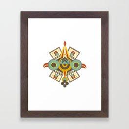 Aztec - Symbol of Ollin Framed Art Print