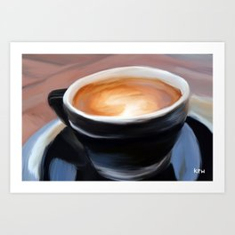 Coffee Mug Painting Art Print