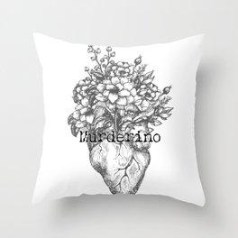Murderino Heart and Flowers Gray | MFM Throw Pillow