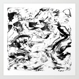 black- and -white abstract Art Print