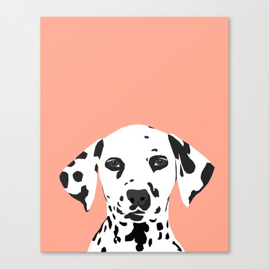 Casey - Dalmation art print phone case decor for pet lover and dog lover Canvas Print