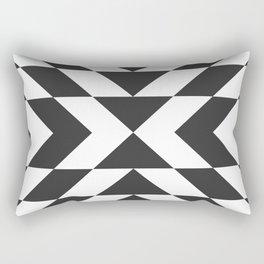 Dark Arrow Pattern Rectangular Pillow