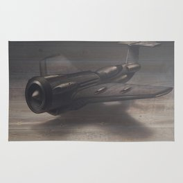 Old airplane 3 Rug