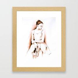 Old fashion ballerina Framed Art Print