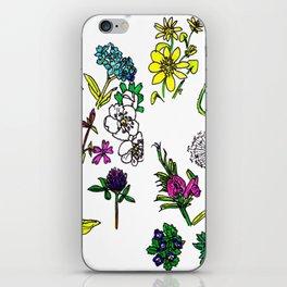 Scottish Summer Wildflowers iPhone Skin