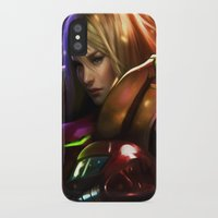 samus iPhone & iPod Cases featuring Samus by KlsteeleArt