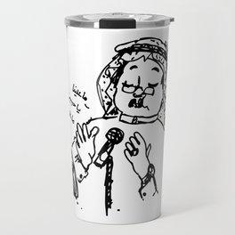 Abu Baker Salim Fan Art sketch black and white lines Oud أبوبكر سالم ما علينا Travel Mug