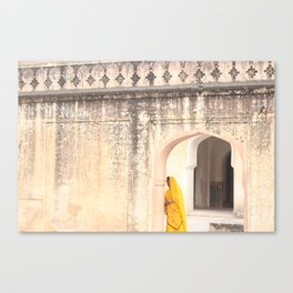 Amber Fort Woman Canvas Print