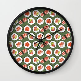 Sushi set Wall Clock