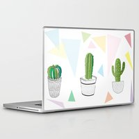 cactus Laptop & iPad Skins featuring Cactus by March Hunger