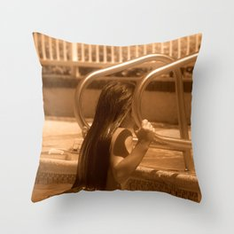 Hangin' by the Pool Throw Pillow