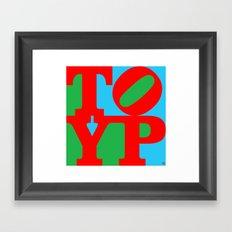 TYPO Framed Art Print