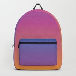 Blue purple pink orange yellow evening sky gradient Backpack