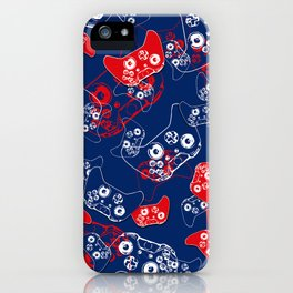 Video Game Red White & Blue 2 iPhone Case
