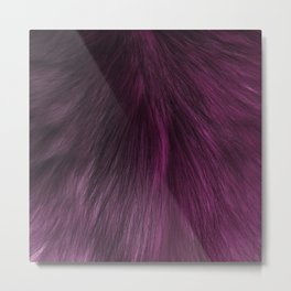 FUR PURPLE Metal Print