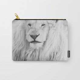 Albino Lion (Black and White) Carry-All Pouch