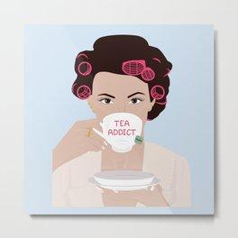 Tea Addict Girl Metal Print