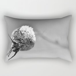 Frost on rose hip Rectangular Pillow